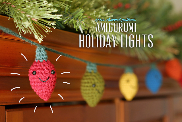 Crochet Amigurumi Christmas Lights – Your Weekend Project is Here!