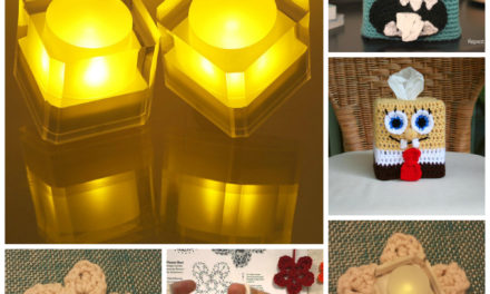 Handmade Holiday Gift Idea: Flickering LED Candle with Crochet Flower