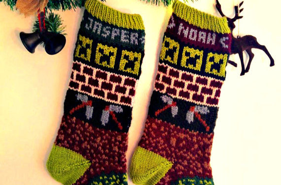 Crafting Since Alpha? This Knit Minecraft Christmas Stocking is For You!
