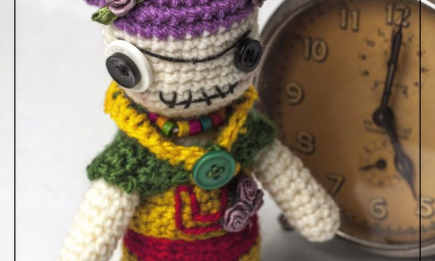 Get the Pattern To Crochet a Zombie Frida Kahlo Amigurumi!