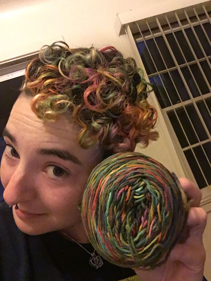Does The Yarn Rule The Hair Or Does The Hair Rule The Yarn? I Dunno ...