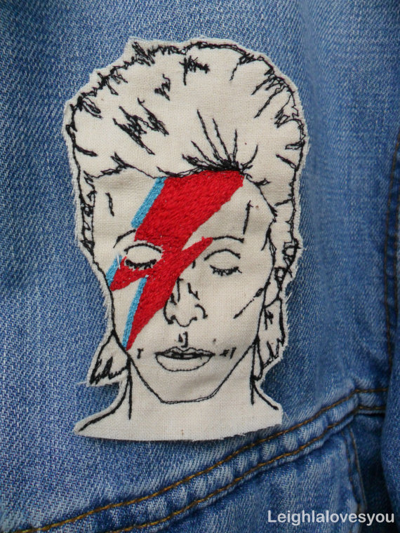 Embroidered Bowie Patch by LeighLaLovesYou