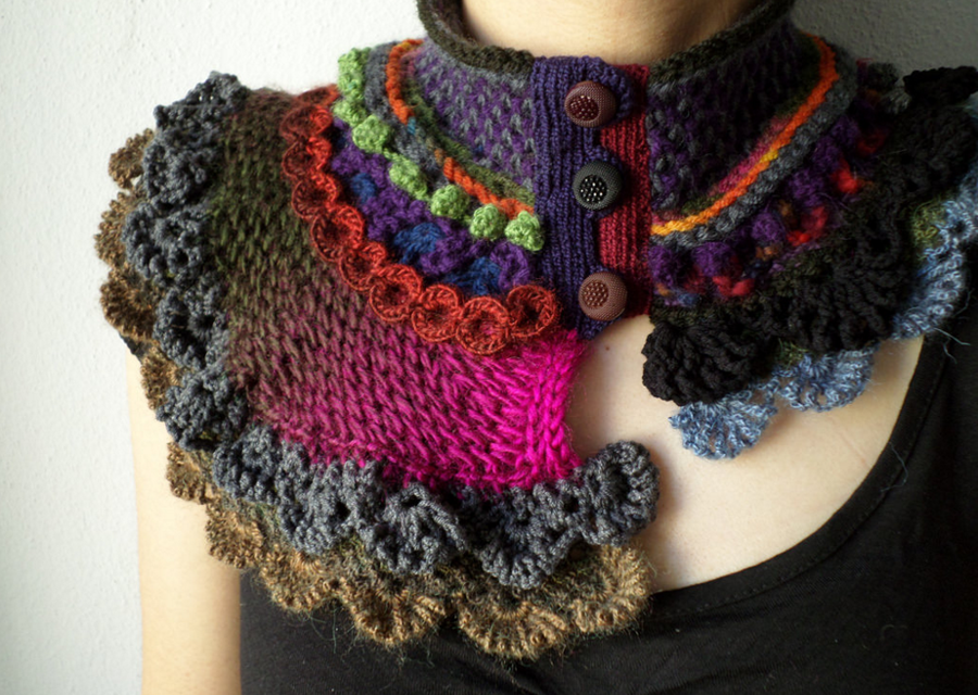 Knit & Crochet Scarflettes by Irregular Expressions