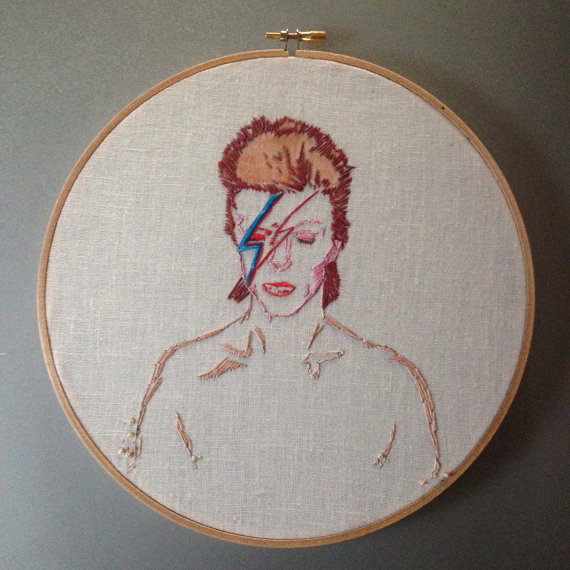 embroidered Bowie