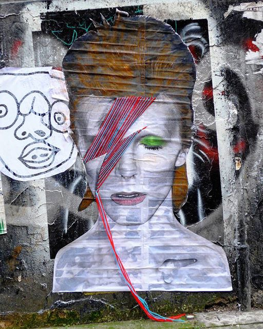 Bowie street art by Villanart - photo by D7606