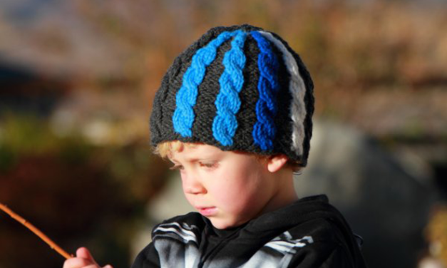 GoPro-inspired hat designed by Gwen Bortner, FREE pattern via Jimmy Beans Wool