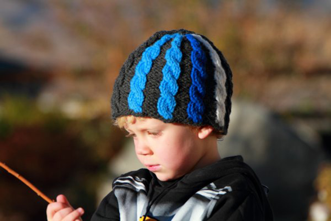 GoPro Inspired Cable-Knit Hat Designed By Gwen Bortner, FREE Pattern Via Jimmy Beans Wool
