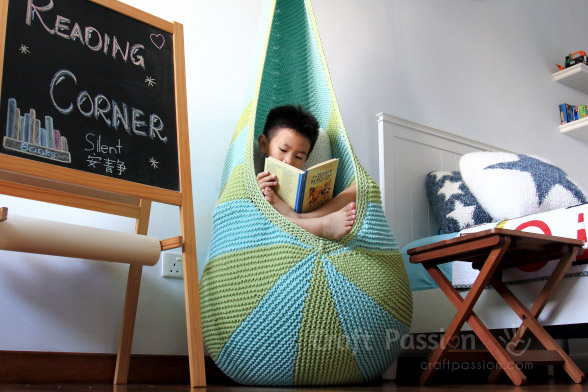 Knitted Cocoon Hanging Seat by Craft Passion – FREE Pattern!