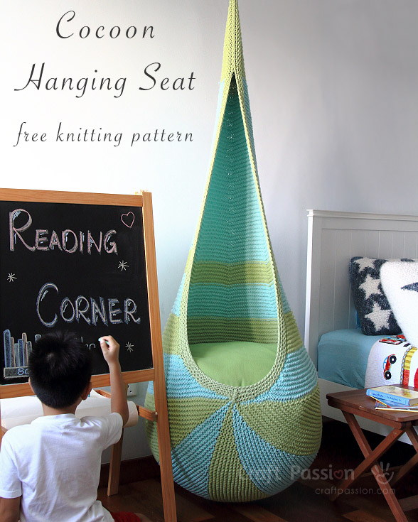 Knitted Cocoon Hanging Seat by Craft Passion - FREE Pattern!