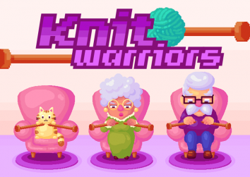 Knit Warriors is a video game  you can play online – it's like Guitar Hero for knitters!
