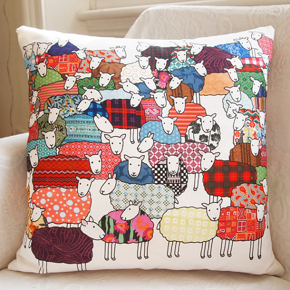 One sheep, two sheep … cute pillow lets you count them all before you fall asleep!