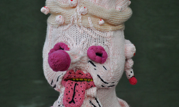 Peculiar & perfect — a new knit mask by Tracy Widdess, in collaboration with James Unsworth.