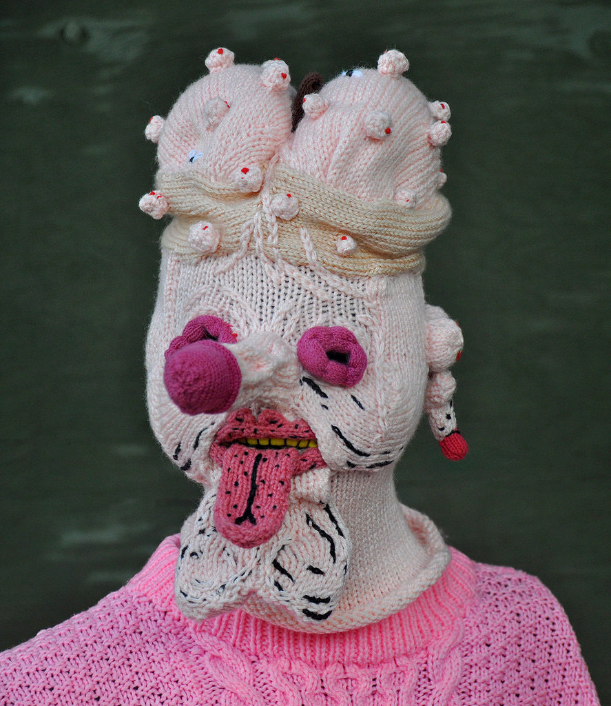 Peculiar & Perfect -- Knit Mask By Tracy Widdess, In Collaboration With James Unsworth