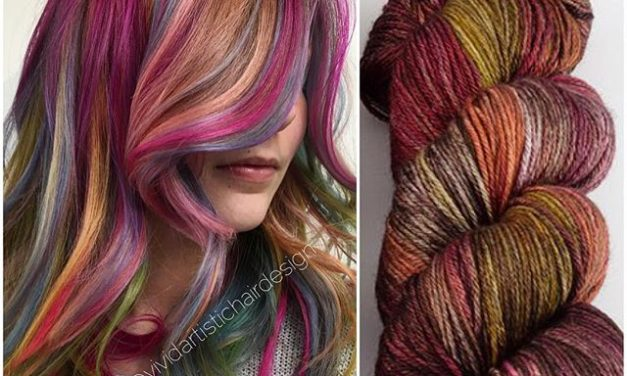 Does the yarn rule the hair or does the hair rule the yarn? I dunno …
