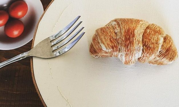 Real-Life Looking 3D Embroidered Breakfast Croissant