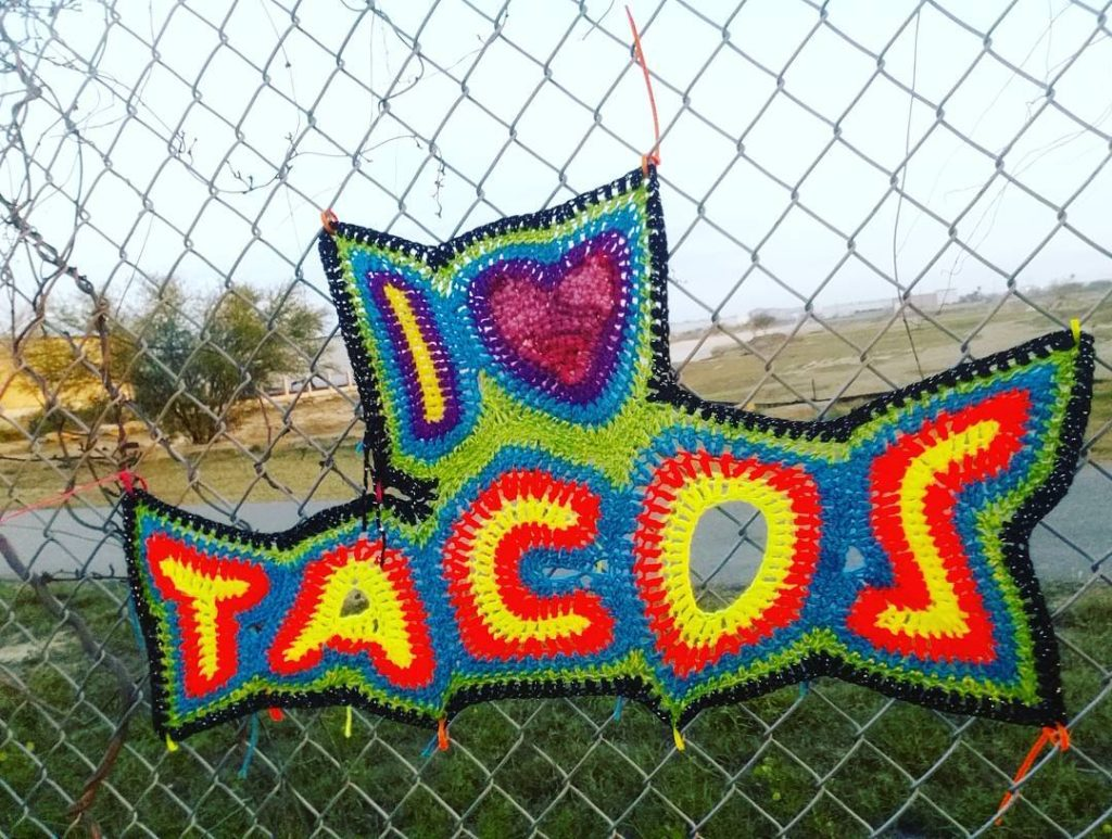 6 Times Taco Tuesday Touched Greatness Through Knit & Crochet - Taco Yarn Bomb