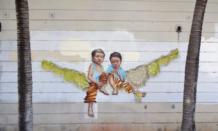 Gorgeous Street Art Collaboration by Olek and Ernest Zacharevic
