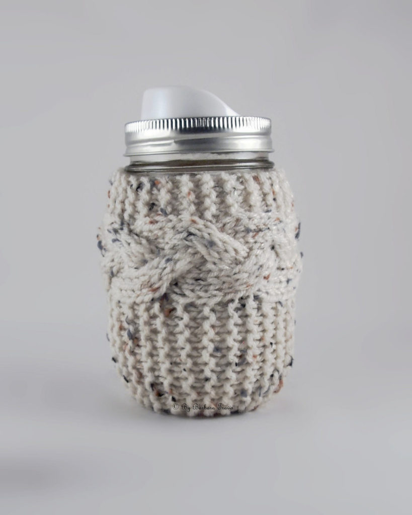 Simple Beauty: Knit Braided Cable Mason Jar Cozy https://wp.me/pjlln-3bd