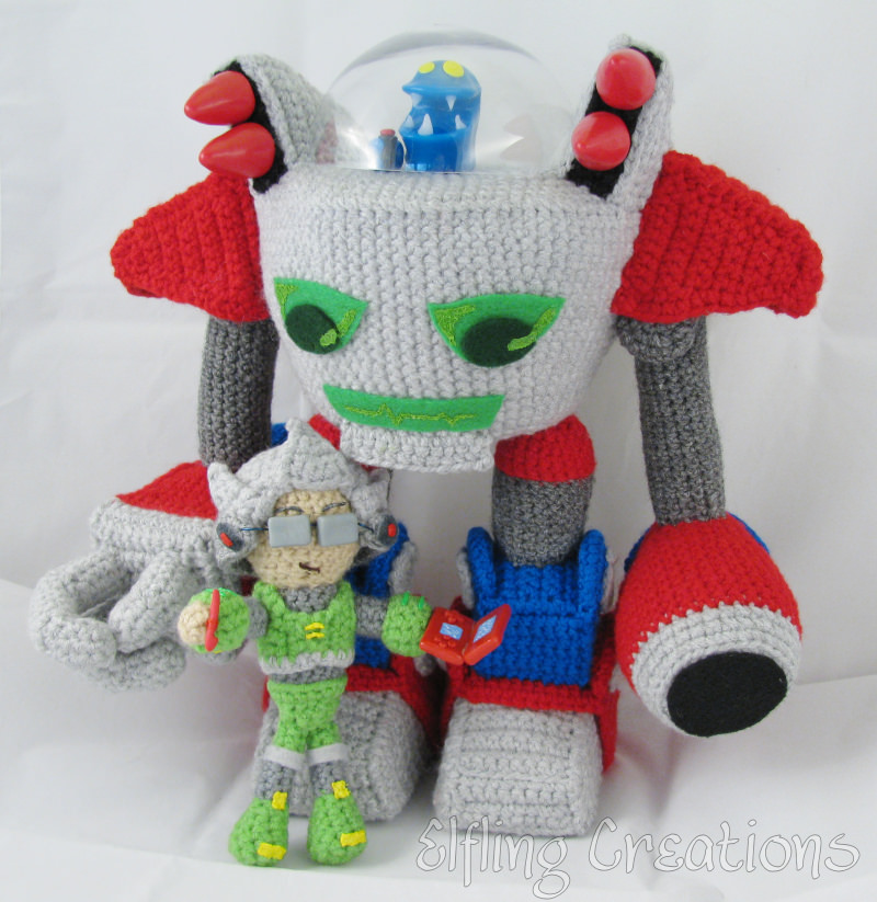 Monster Tale Robot Doll - Crocheted by Meri Greenleaf (Elfling Creations)