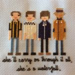 """Stone Roses Cross Stitch, """"She's a Waterfall"""""""