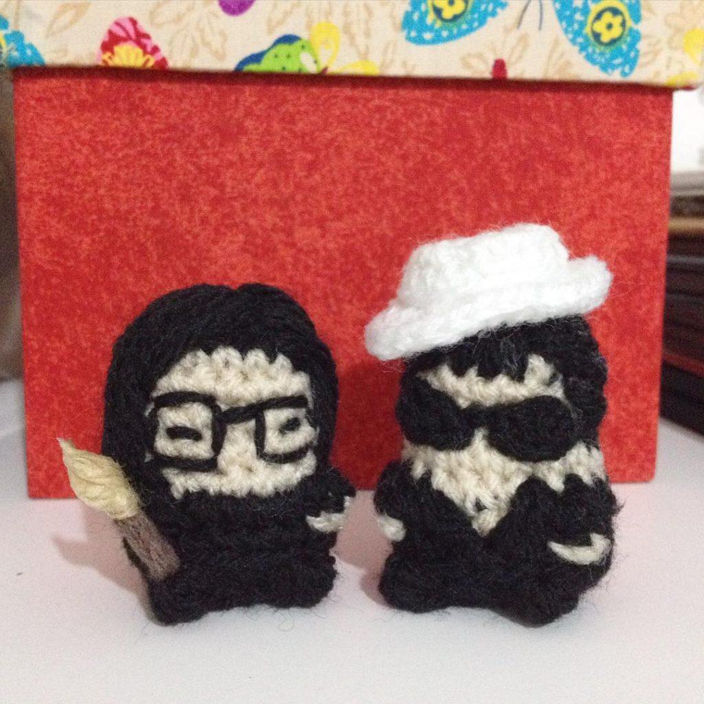Teeny Tiny Tomie Ohtake & Yoko Ono Amigurumi