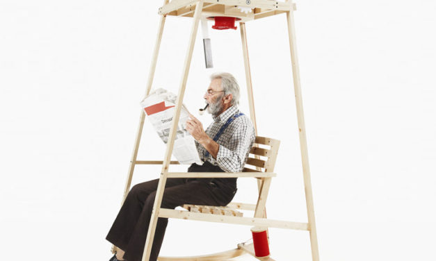 Rocking Chair Uses Kinetic Energy to Knit Hats