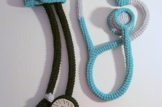 Crochet Stethoscope and Blood Pressure Cuff Toys