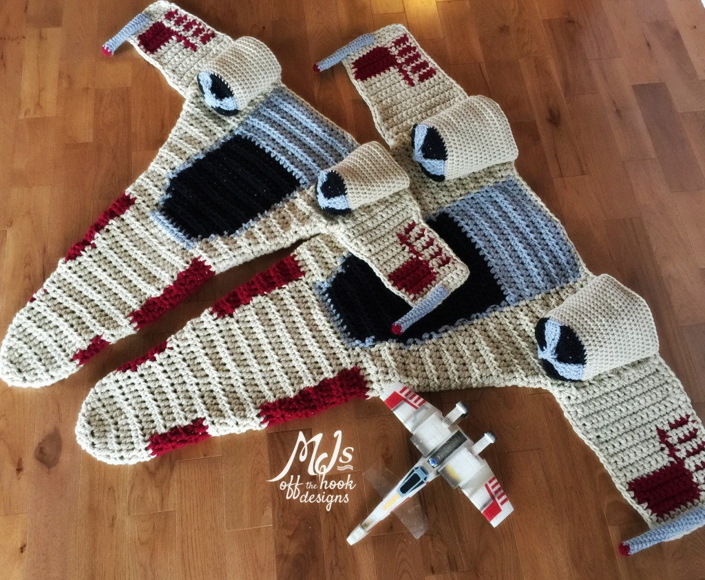 Amigurumi Star Wars Patterns : The most legendary star wars x wing starfighter crochet blanket ever
