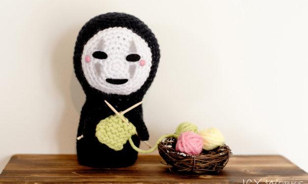 No-Face (Kaonashi) mittens, amigurumi and chart … plus FREE knit & crochet patterns!