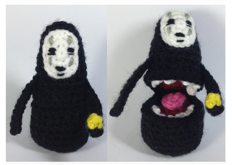 No-Face (Kaonashi) Mittens, Amigurumi & Chart ... Plus FREE Knit & Crochet Patterns!