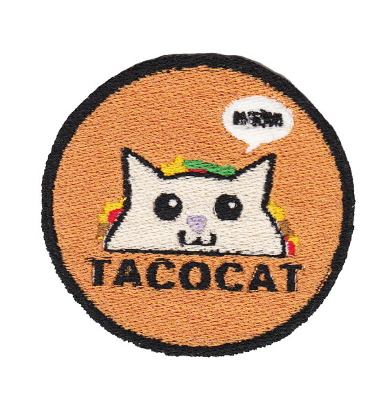 6 Times Taco Tuesday Touched Greatness Through Knit & Crochet - Tacocat Patch by MiniandVan