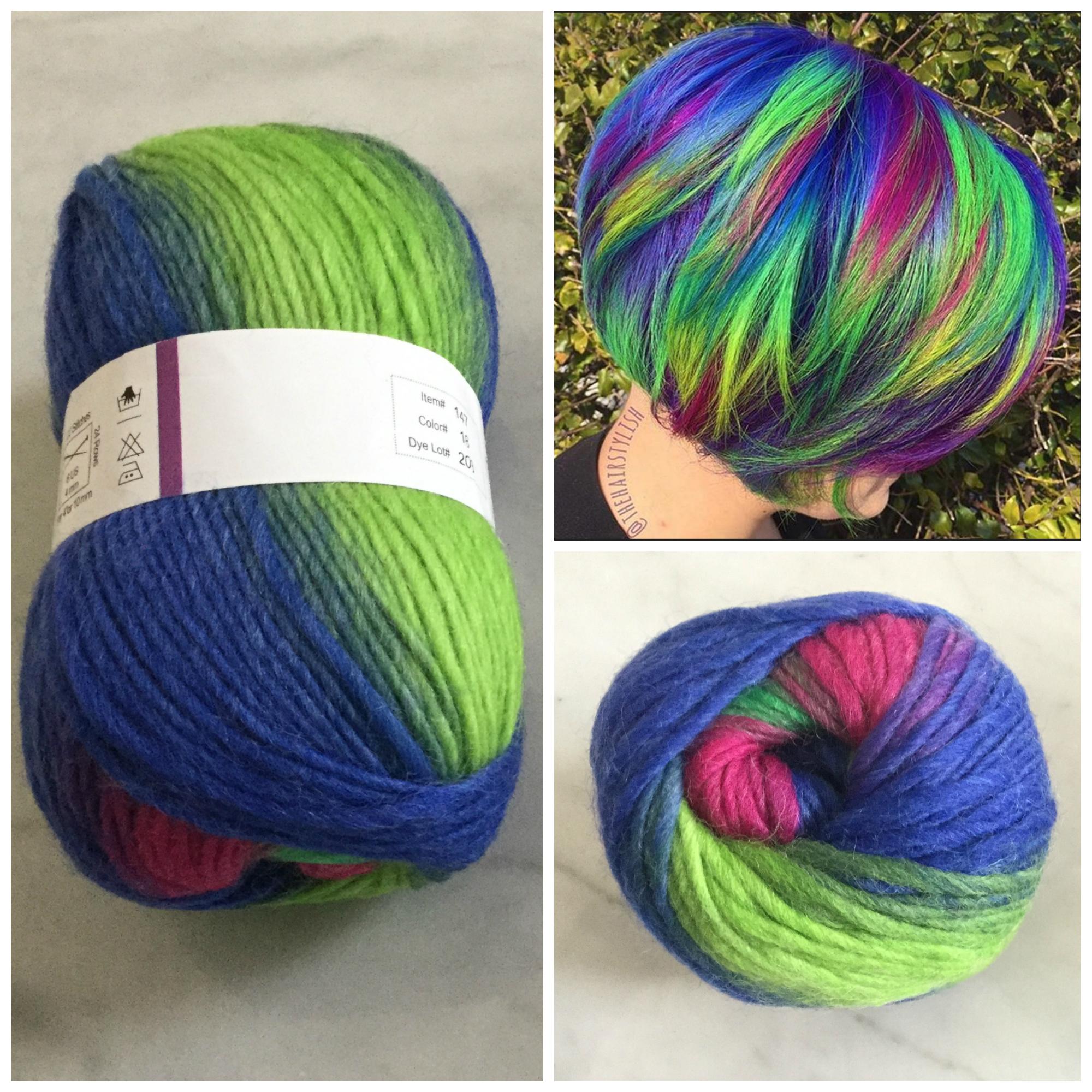 Magical Mermaid Hair ... Inspired by Yarn?