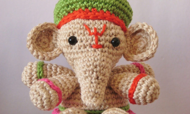 Go Around the World Seven Times With Ganesha – FREE crochet patterns (and one knit one too)!