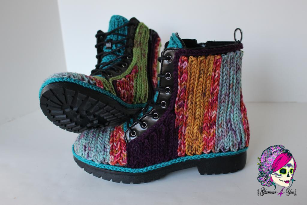 DIY Faux Crochet Boots - FREE Tutorial