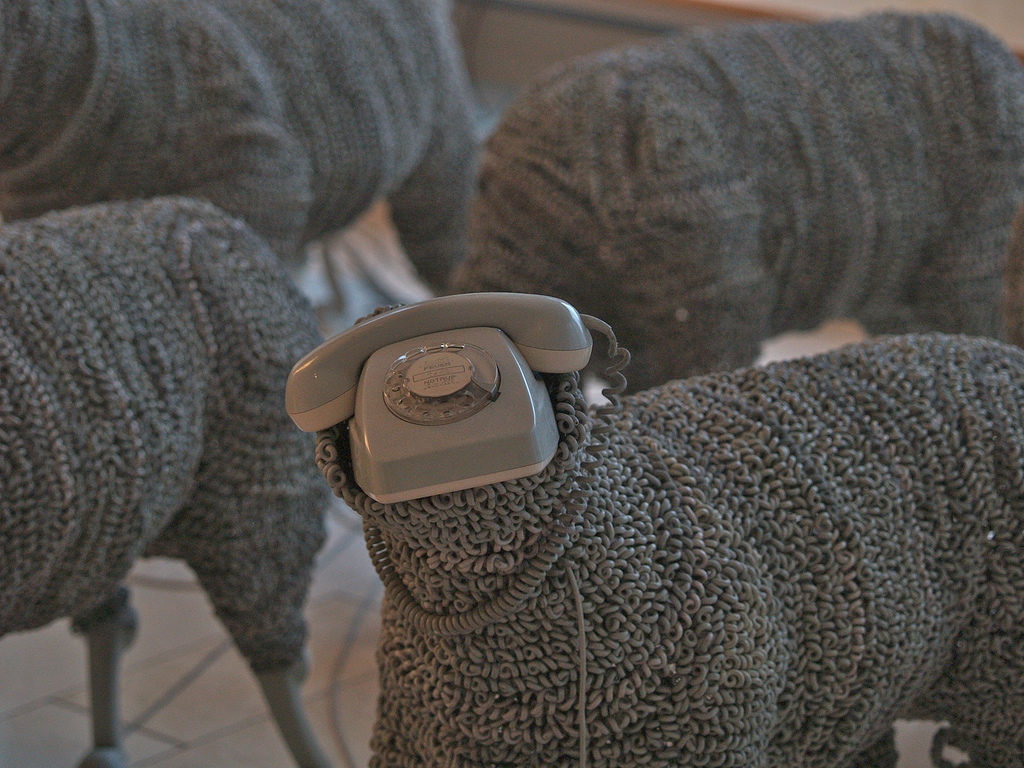 Jean Luc Cornec's Re-purposed Rotary Phone Sheep ... Moth-Eaten & Antiquated ...