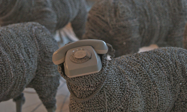 Jean Luc Cornec's Re-purposed Rotary Phone Sheep … Moth-Eaten & Antiquated …