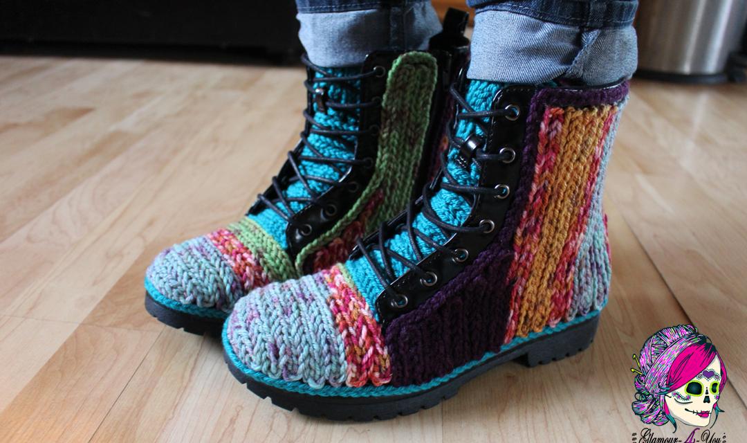DIY Faux Crochet Boots – FREE Tutorial