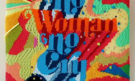 "Beautiful ""No Woman, No Cry"" Poster Knit by Anya Astapova"