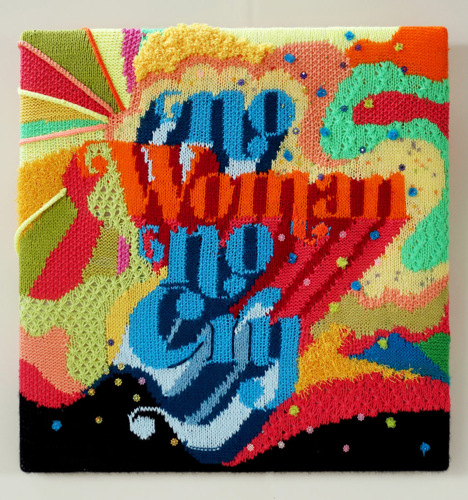 Beautiful 'No Woman, No Cry' Poster Knit by Anya Astapova
