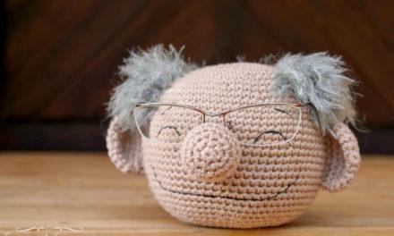 Cute Crochet Eyeglasses Holder Looks Like Bernie Sanders!