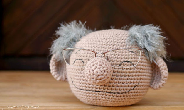Cute Crochet Eyeglasses Holder Looks Like Bernie Sanders!