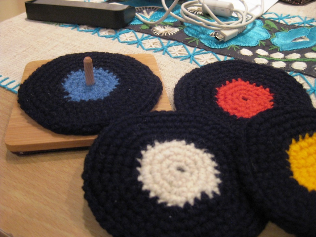 Knit or Crochet a Vinyl Record