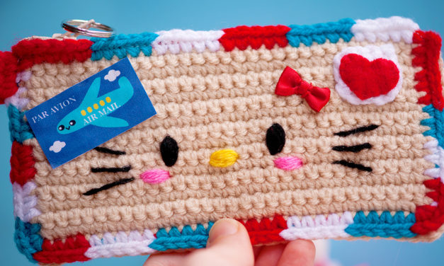 When Your Pen Pal is All About Hello Kitty, This is What You Crochet …
