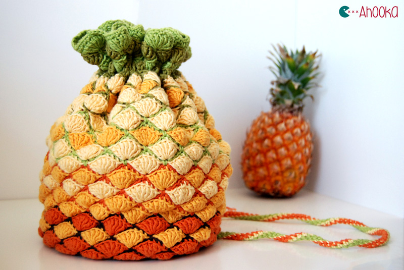 On Your Arm! It's a Pineapple, No, It's a Purse ... Get This Unique Crochet Pattern Now!