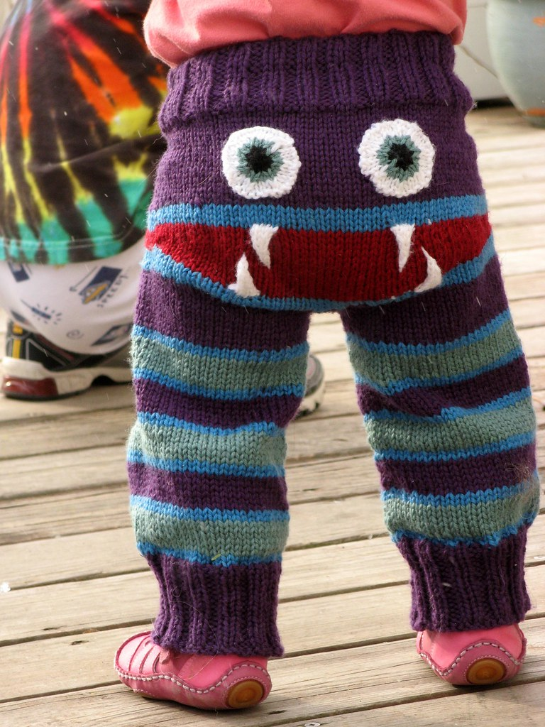 Knit a Pair of Monster Bum Pants! Get the Pattern FREE!