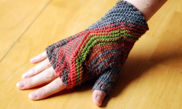 Either/Or Fingerless Mitts/Full Mitts Designed by Lee Meredith – that's an Elliott Smith reference but Kierkegaard can have a pair too …