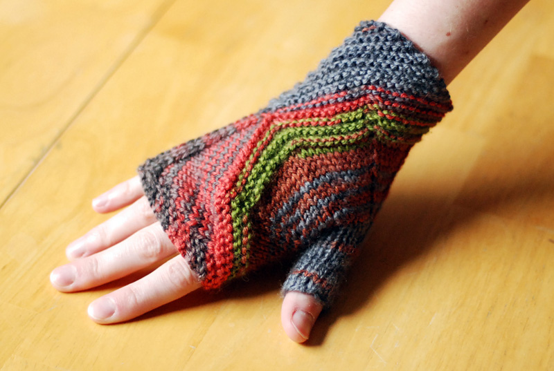 Either/Or Mitts Designed by Lee Meredith – That's an Elliott Smith Reference But We Can Knit Kierkegaard a Pair Too …
