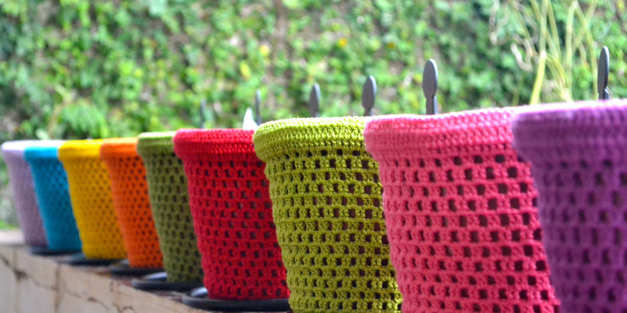 It's No Secret, Colorful Crochet Has a Home in the Garden