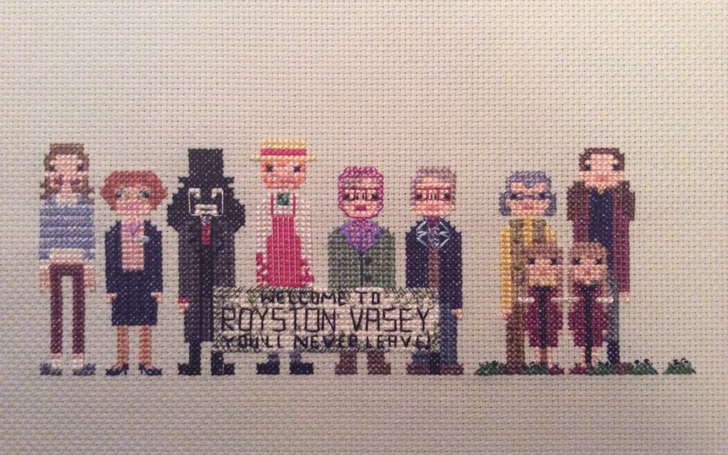League of Gentlemen Cross-Stitch – 'This is a LOCAL shop …'