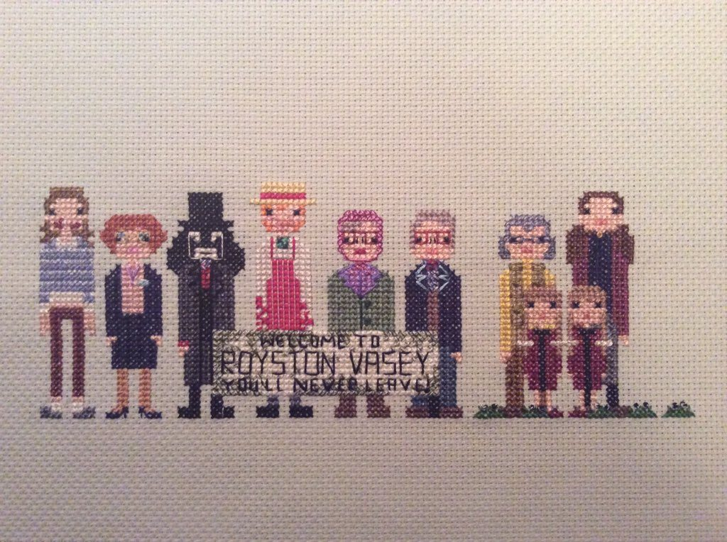 League of Gentlemen Cross-Stitch - 'This is a LOCAL shop ...'